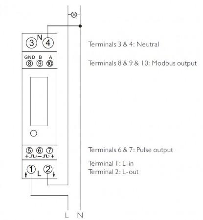 Contatore EASTRON SDM120C Modbus per monitoraggio energetico